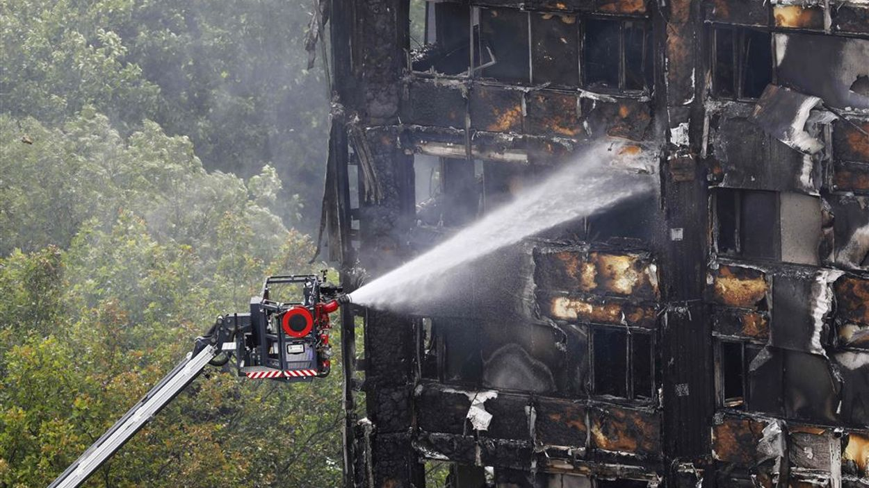 Brandgevaar flatbrand Londen