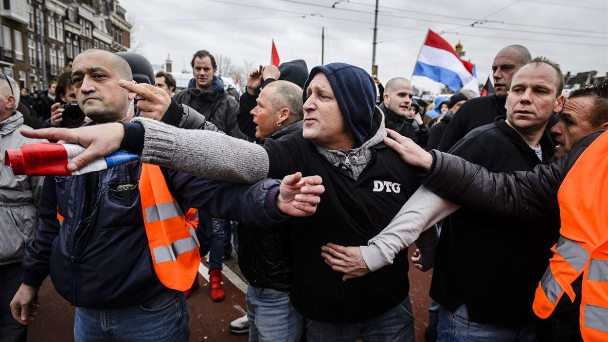 Demonstranten van Pegida