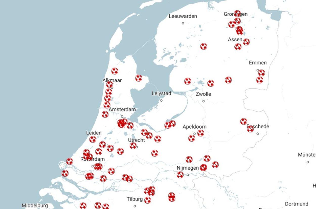 Afbeelding van Onrust bij honderden voetbalclubs over gezondheidsrisico's kunstgras