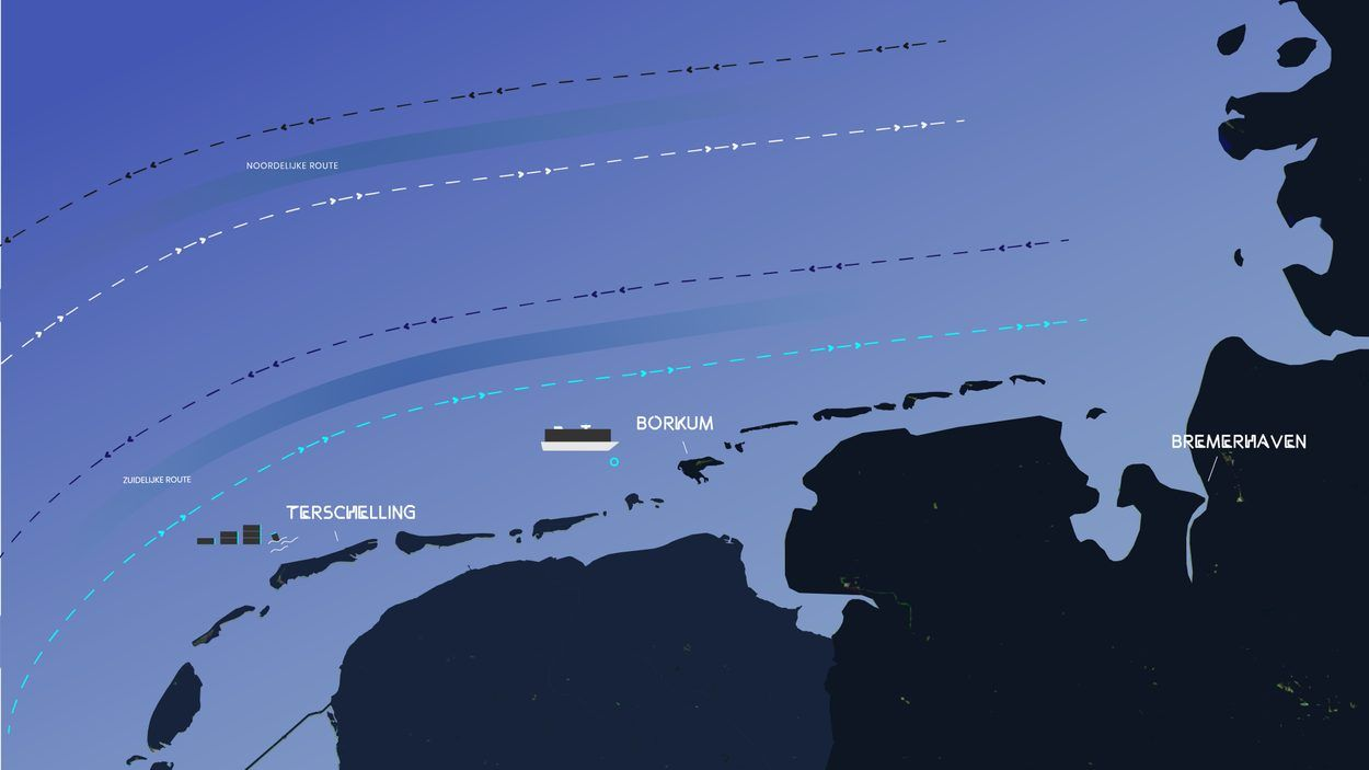 Afbeelding van Onderzoeksraad waarschuwt grote schepen voor ondiepe vaarroute nabij Waddenkust