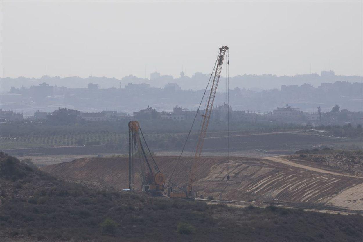 Afbeelding van Israël versnelt bouw kilometerslange ondergrondse muur om Gaza