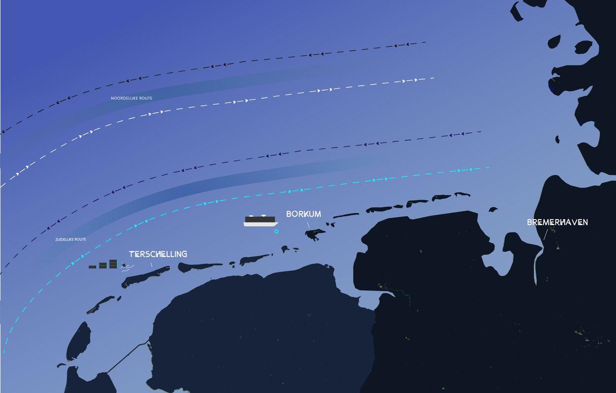 Afbeelding van MSC kiest sinds ongeluk Zoe voor andere route boven Wadden