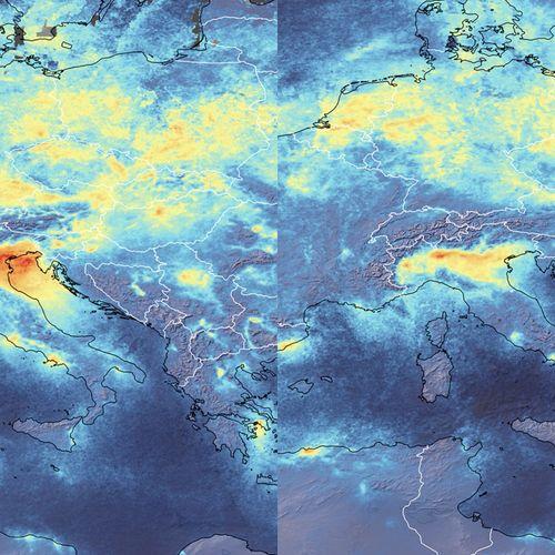 Afbeelding van Luchtvervuiling in Europese steden sterk afgenomen door maatregelen tegen coronavirus